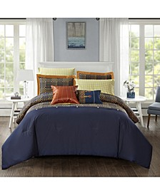 Jonesworks Alexander 3-Piece Full/Queen Comforter Set