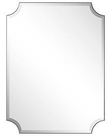 """Empire Art Direct Frameless Rectangle Scalloped Beveled Mirror - 30"""" x 40"""""""