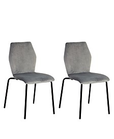 Waverly Velvet Dining Chair Set of 2