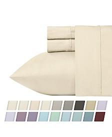 California Design Den 700 Thread Count CVC 4-Piece Rich Sateen Sheet Set, King