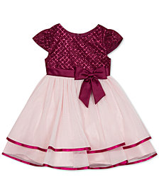 Rare Editions Little Girls Glitter Tiered Fit & Flare Dress