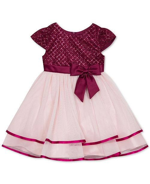 Rare Editions Toddler Girls Glitter Tiered Fit & Flare Dress