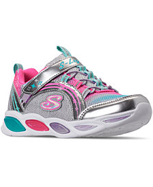 Skechers Little Girls Shimmer Beams Stay-Put Closure Casual Athletic Sneakers from Finish Line