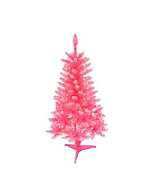 International 4 ft. Pre-Lit Fashion Pink Pine Artificial Christmas Tree with 150 UL-Listed Clear Lights