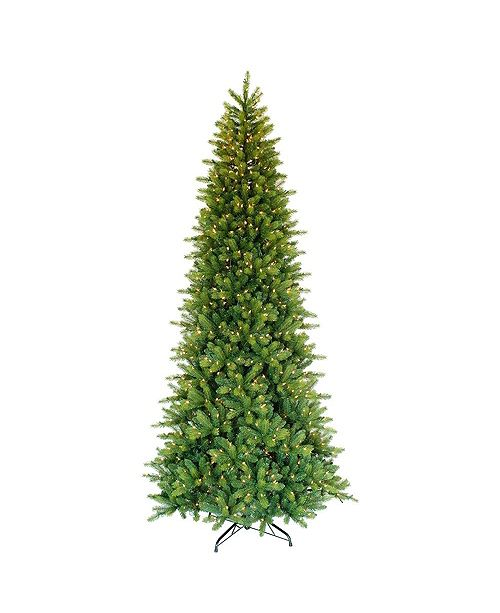 Puleo International 9-foot Pre-Lit Miracle Shape Tree with with 900 white incandescent Lights.