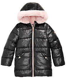 Michael Michael Kors Big Girls Hooded Faux-Fur-Lined Puffer Coat