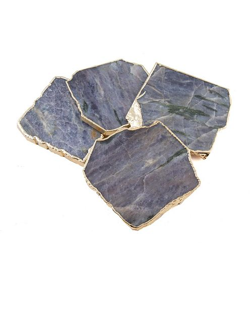 Thirstystone Blue Agate Coasters, Set of 4