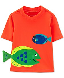 Baby Boys Fish-Print Rash Guard
