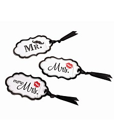Mustache and Red Lips Luggage Tags