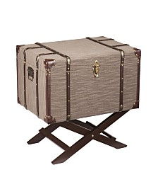 Southern Enterprises Harmon Linen Trunk File Storage