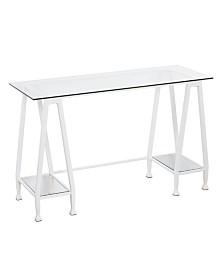 Southern Enterprises Newbury A Frame Writing Desk