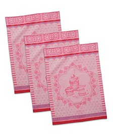 French Macarons Jacquard Dishtowel, Set of 3