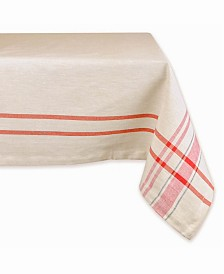 "French Stripe Tablecloth 52"" x 52"""