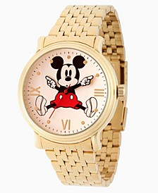 Men's Disney Mickey Mouse Gold Bracelet Watch 44mm