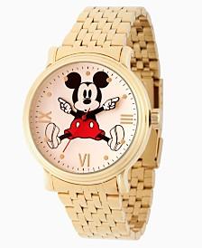 EwatchFactory Men's Disney Mickey Mouse Gold Bracelet Watch 44mm
