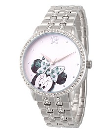 EwatchFactory Women's Disney Minnie Mouse Silver Bracelet Watch 40mm