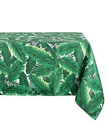 "Banana Leaf Outdoor Tablecloth with Zipper 60"" x 84"""