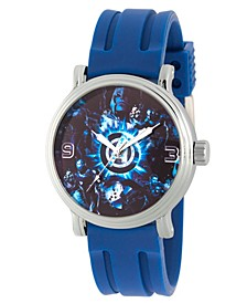Men's Marvel Avengers Endgame Hulk, Thanos, Ant-Man, Iron Man, Thor Alloy Vintage Blue Strap Watch 44mm