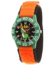 Boy's Disney Toy Story 4 Rex Orange Plastic Time Teacher Strap Watch 32mm