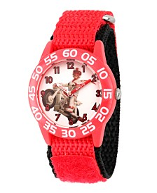 EwatchFactory Boy's Disney Toy Story 4 Duke Caboom red Plastic Time Teacher Strap Watch 32mm