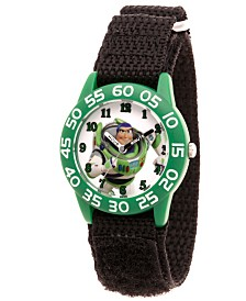 EwatchFactory Boy's Disney Toy Story 4 Buzz Lighter Black Plastic Time Teacher Strap Watch 32mm