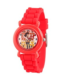 EwatchFactory Boy's Disney Toy Story 4 Woody Red Plastic Time Teacher Strap Watch 32mm