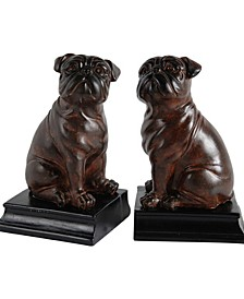 A&B Home Bull Dog Bookends, Set of 2