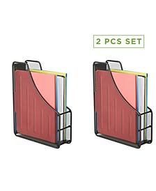 2 Piece Mesh File Holder, Office Desk Organizer