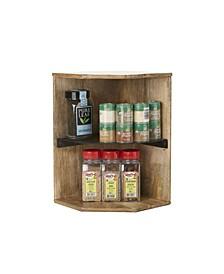 Wood, Iron 2 Tier Corner Shelf Organizer