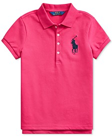Big Girls Stretch Mesh Polo Shirt
