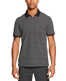 Men's Performance Stretch Square Print Polo Shirt