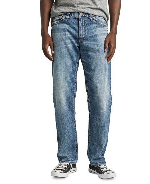 Silver Jeans Co. Men's Hunter Athletic-Fit Tapered Stretch Jeans