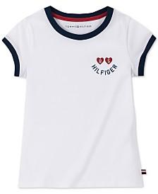 Tommy Hilfiger Big Girls Logo-Print Cotton Ringer T-Shirt