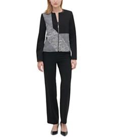 Calvin Klein Colorbocked Zip-Up Blazer