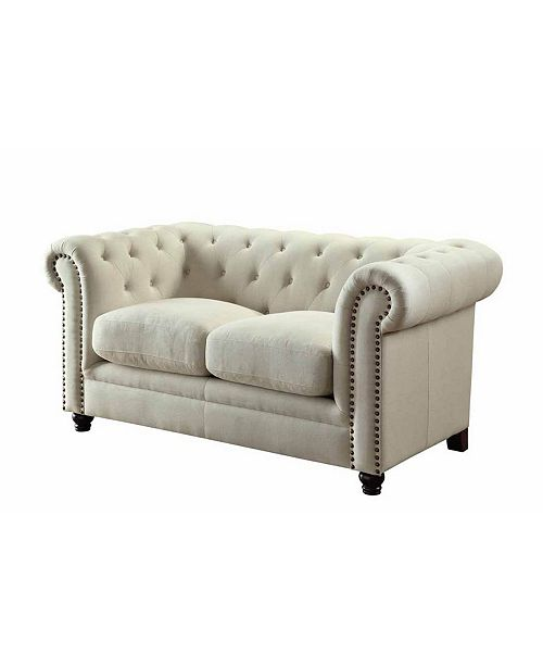 Coaster Home Furnishings Roy Loveseat with Rolled Back and Arms