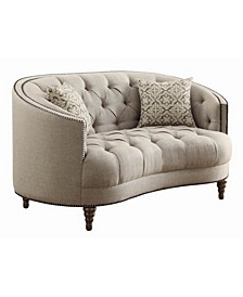 Avonlea Loveseat with Button Tufting