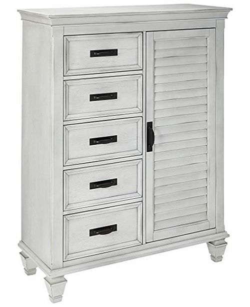 Coaster Home Furnishings Franco 5-Drawer Man's Chest with Louvered Panel Door