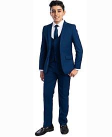 Toddler Boy's 5-Piece Shirt, Tie, Jacket, Vest and Pants Solid Suit Set