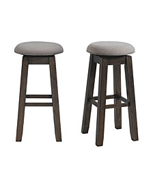 "Steele 30"" Swivel Backless Bar Stool Set"