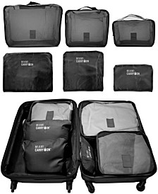 Set of 6 Packing Cubes, Travelers Luggage Organizer