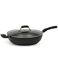 7.5-Qt. Jumbo Nonstick Covered Wok Pan