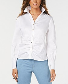 Ruched Balloon-Sleeve Shirt, Created for Macy's