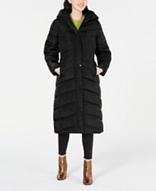 Madden Girl Juniors' Hooded Maxi Puffer Coat