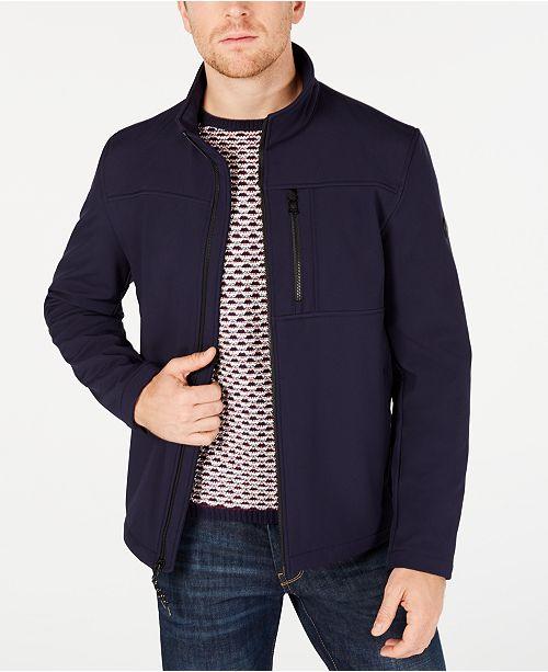 Calvin Klein Men's Soft Shell Open Bottom Jacket