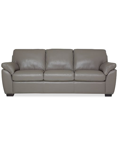 Furniture Lothan 87 Leather Sofa With