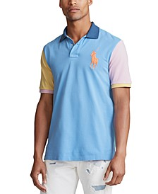 Men's Multi-Color Big Pony Mesh Polo Shirt