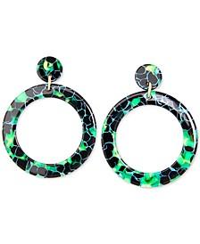 Gold-Tone Acetate Tortoise Shell-Look Drop Earrings
