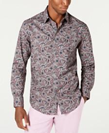 Tasso Elba Men's Fontino Paisley Print Shirt, Created for Macy's