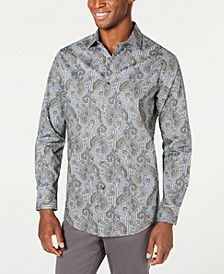 Men's Stretch Loreti Paisley Shirt, Created for Macy's