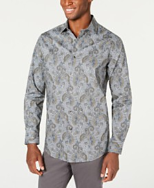 Tasso Elba Men's Loreti Paisley Shirt, Created for Macy's